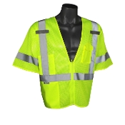 ECONOMY CLASS 3 LIME GREEN SAFETY VEST
