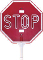 STAR LED STOP SIGN - HAND HELD - MADE IN USA