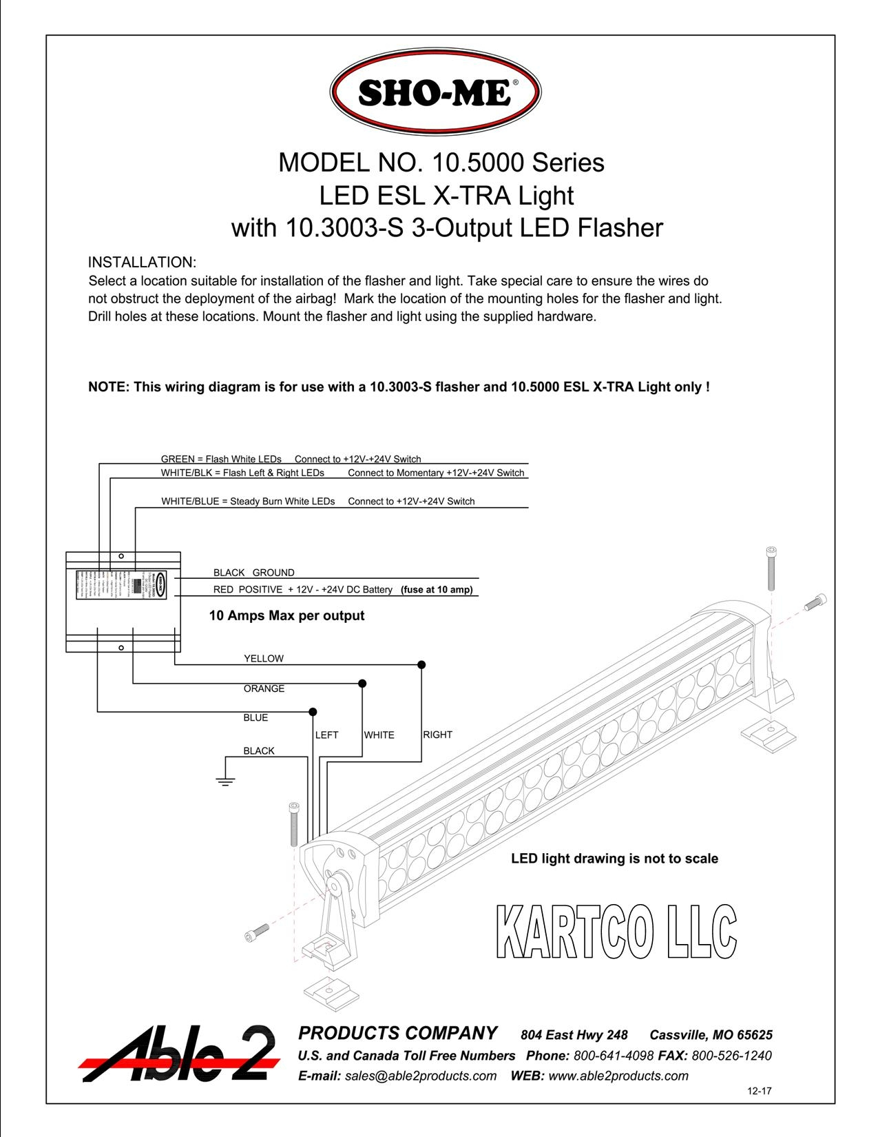 Sho Me Esl X Tra Led Warning And Scene Light Combined Wiring 3w Leds In Series